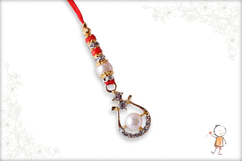 Delicate Pearl with Diamond Bhabhi Rakhi - Babla Rakhi