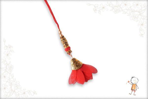 Classic Red Flower Bhabhi Rakhi