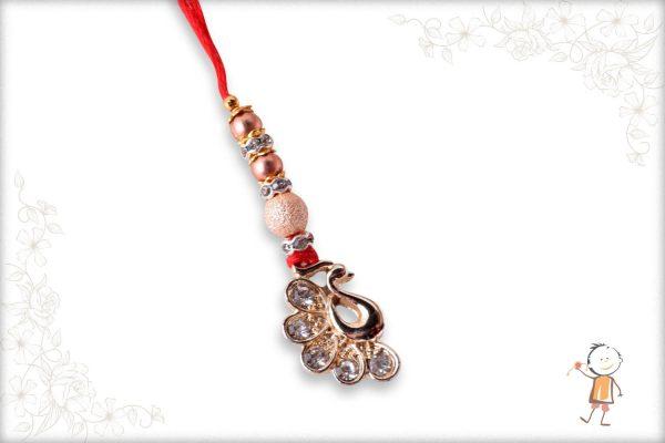 Delicate Diamond Peacock Bhabhi Rakhi - Babla Rakhi