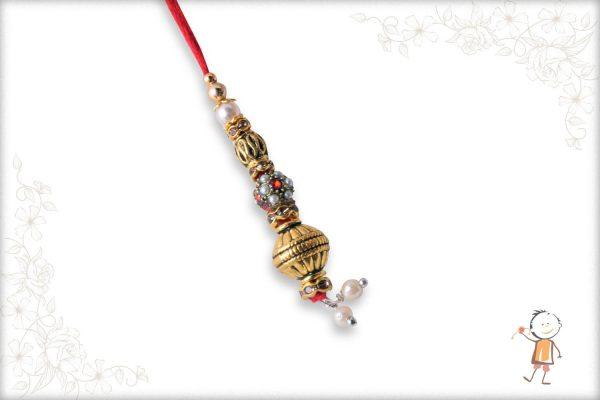 Traditional Designer Beads Bhabhi Rakhi - Babla Rakhi