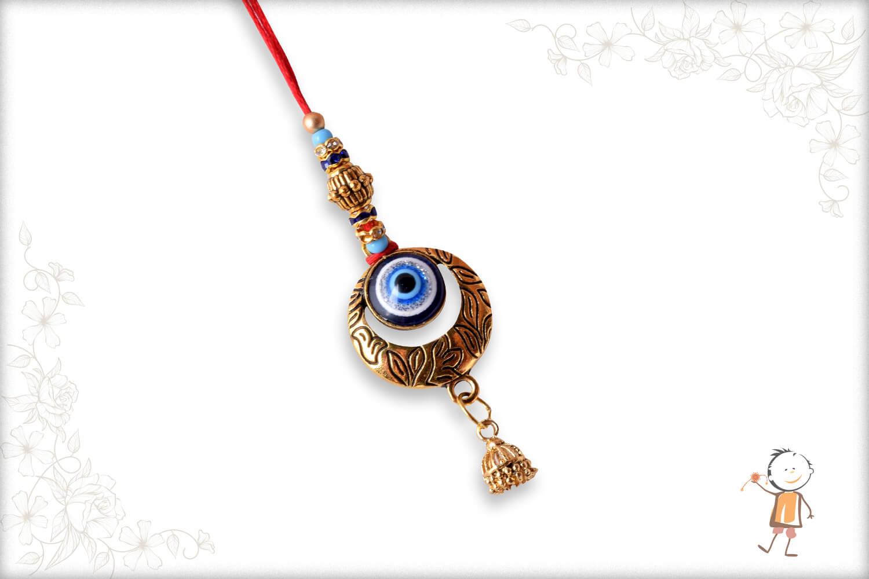 Beautiful Evil Eye Bhabhi Rakhi with Designer Beads - Babla Rakhi