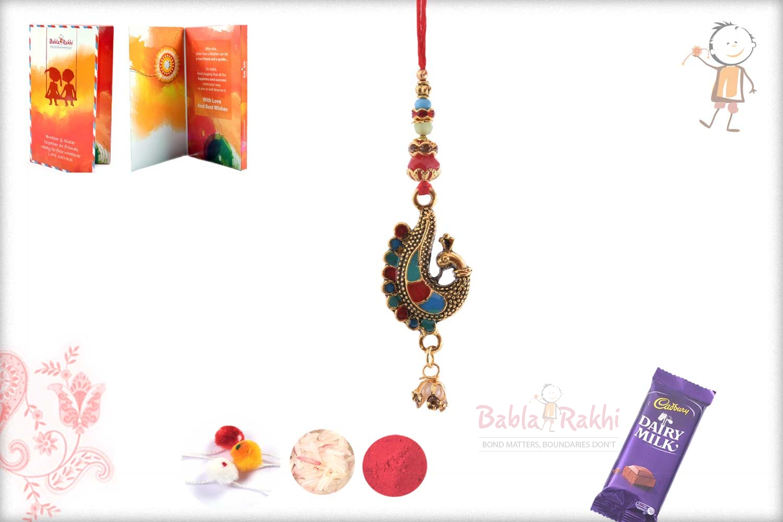 Exclusive Meenakari Peacock Bhabhi Rakhi 1