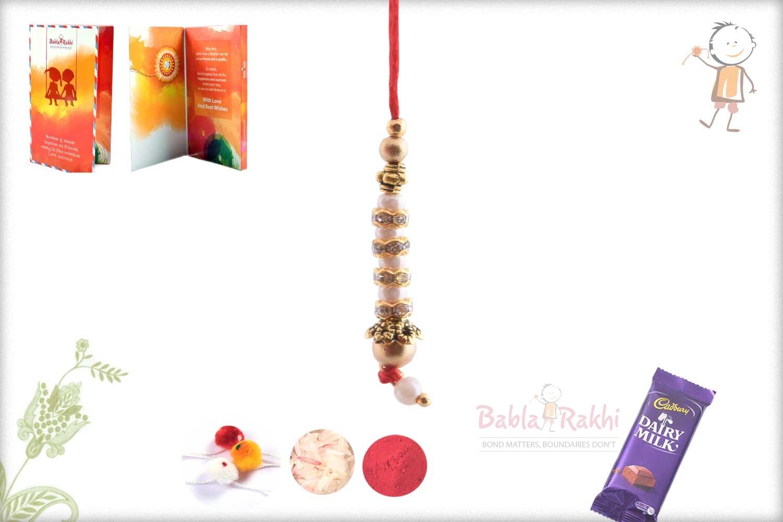Delicate Pearl Bhabhi Rakhi 1