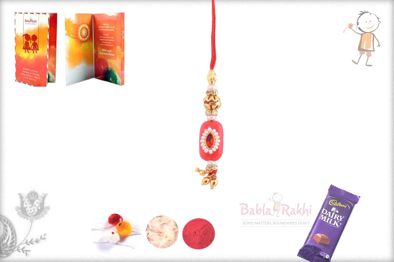 Delicate Red Bhabhi Rakhi 1
