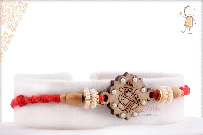 Beautiful Wooden Crafted Ganpati Rakhi 2