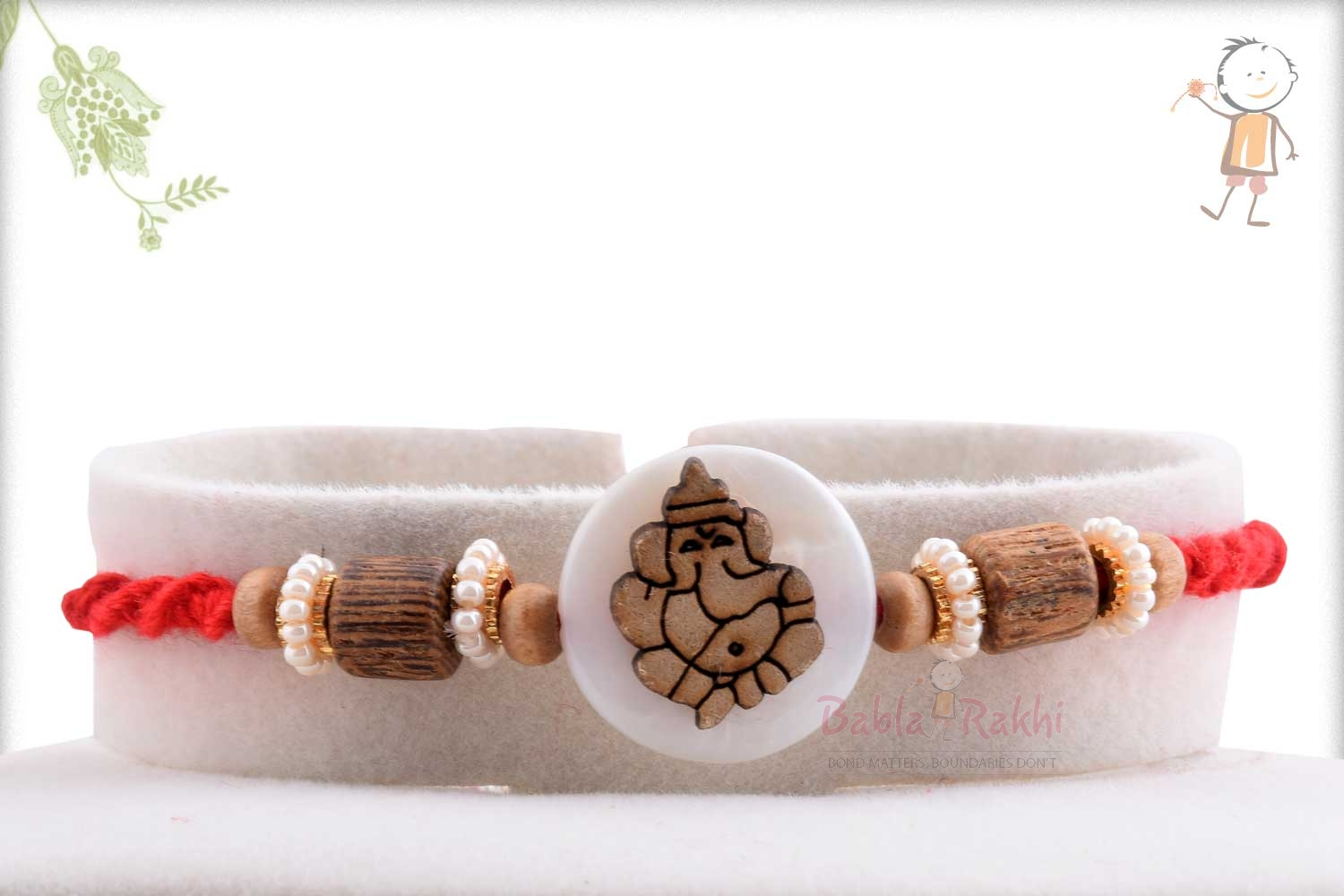 Exclusive Wooden Crafted Ganpati Rakhi 1