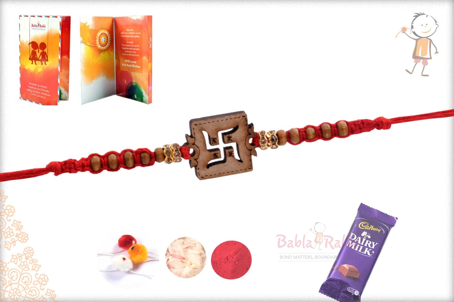Exclusive Wooden Crafted OM Rakhi 2