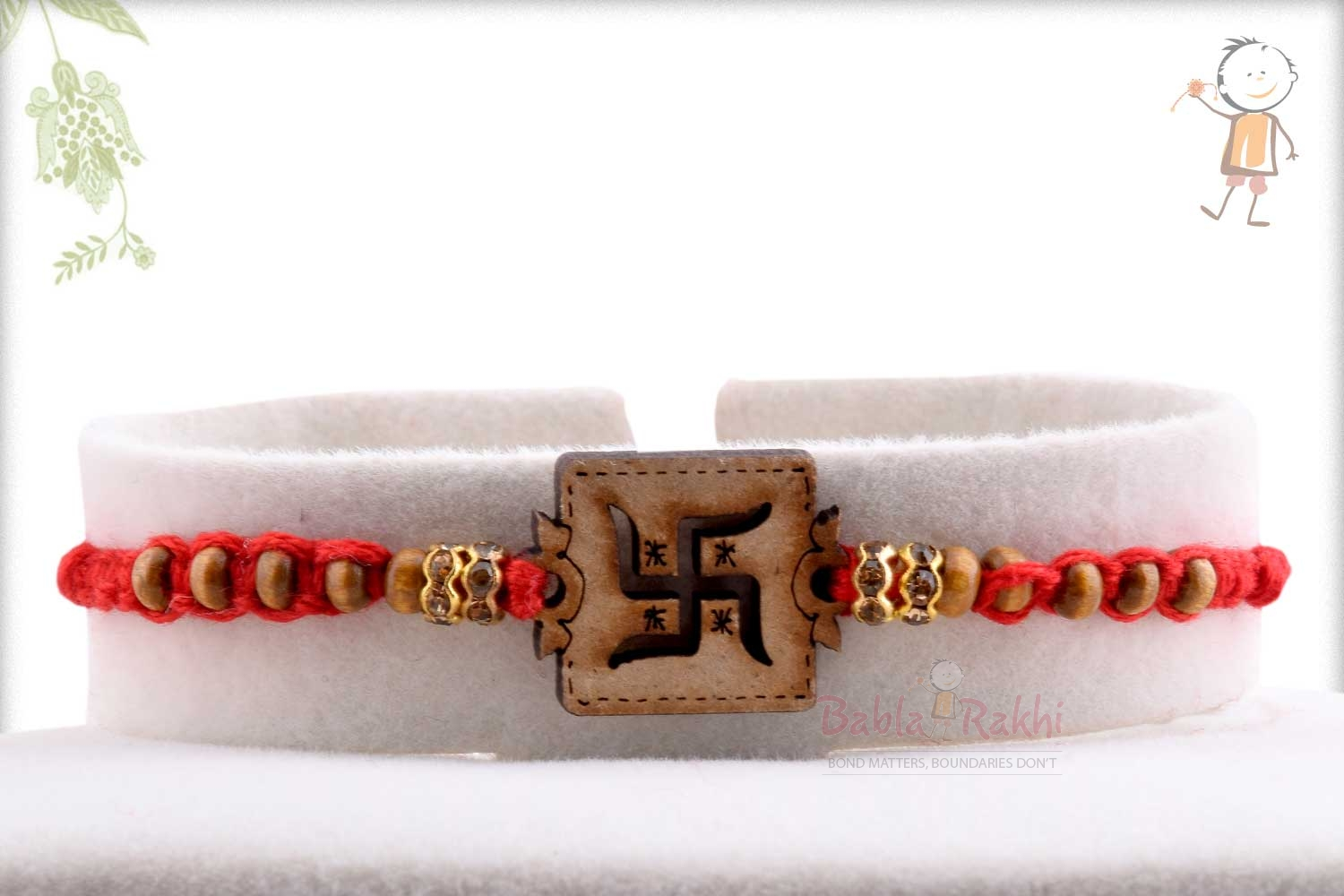 Exclusive Wooden Crafted OM Rakhi 1