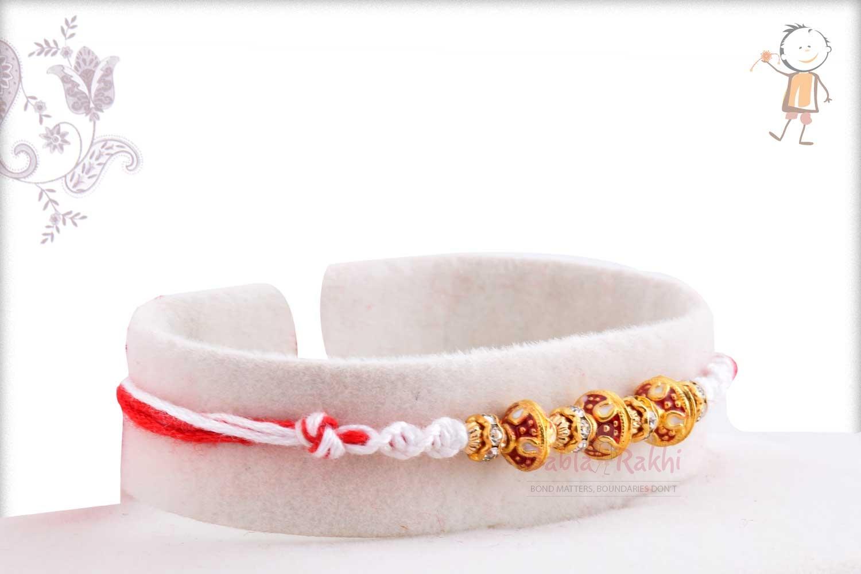 Exclusive Meenakari Beads Rakhi with Diamonds 2
