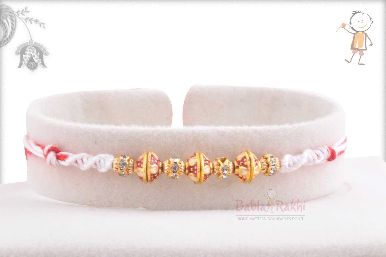 Exclusive Meenakari Beads Rakhi with Diamonds 1