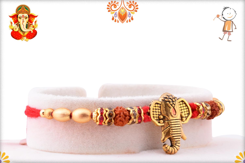Powerful Combination Of Ganesh And Rudraksh Rakhi 2