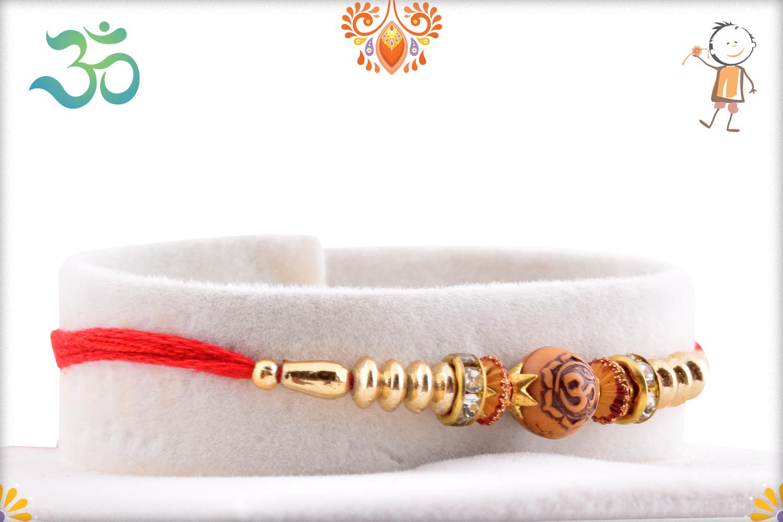 Exceptional Wooden Om Rakhi 2