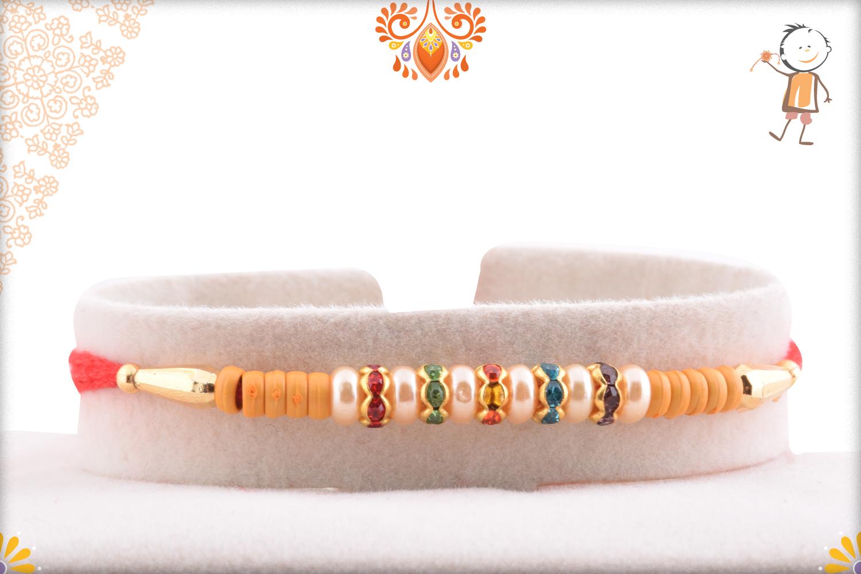 Evergreen and Simple Multi White Pearl Rakhi 1