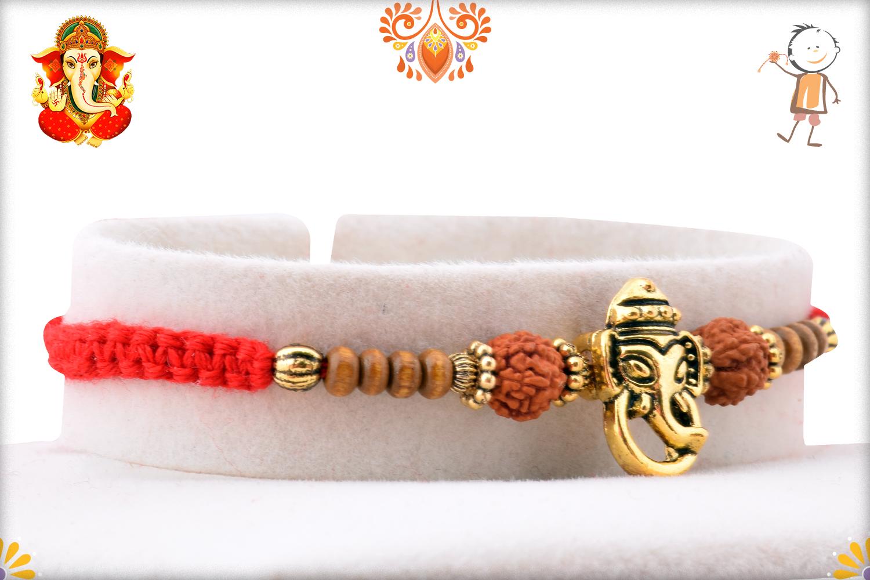 Prosporus Golden Ganpati With Rud Rakhi 2