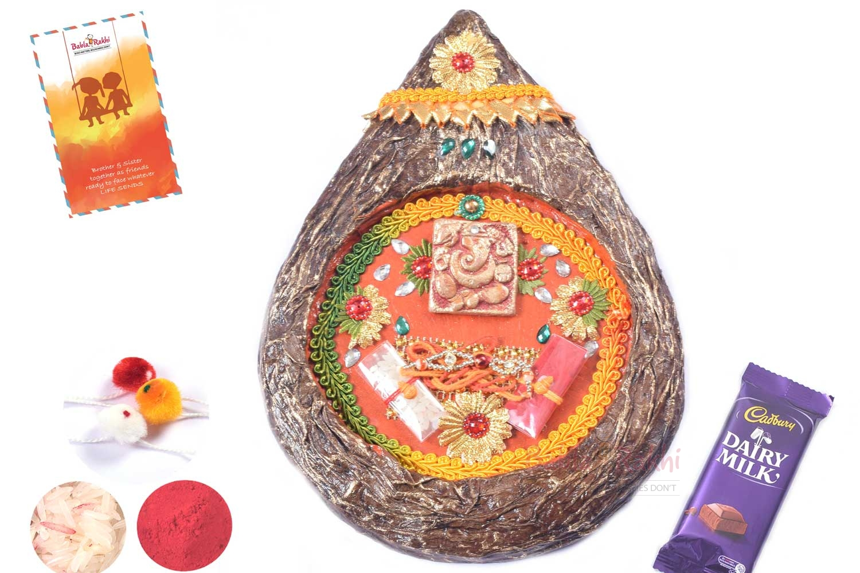 Shrifal Shape Rakhi Thali 1