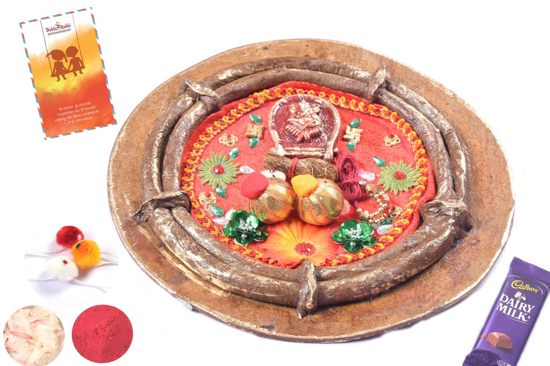 Stunning Red Rakhi Thali 1