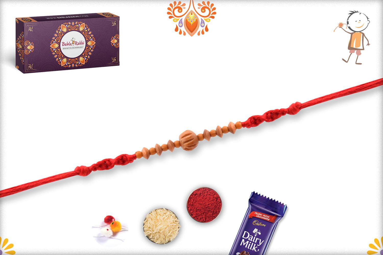 Exclusive and Designer Wooden Beads Rakhi 2