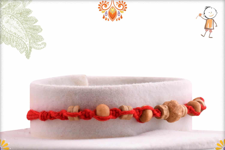 Uniquely Crafted Sandalwood Rakhi - Babla Rakhi