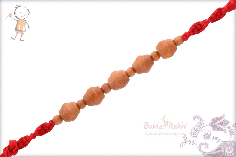 Designer Sandalwood Beads Rakhi 2