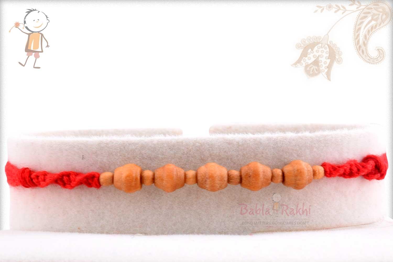 Designer Sandalwood Beads Rakhi 1