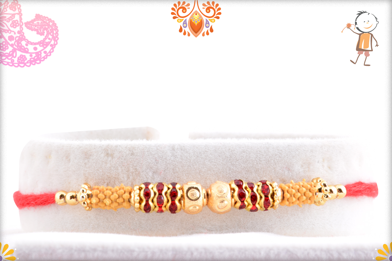 Fabulos Combination of Golden and Red Rakhi 1