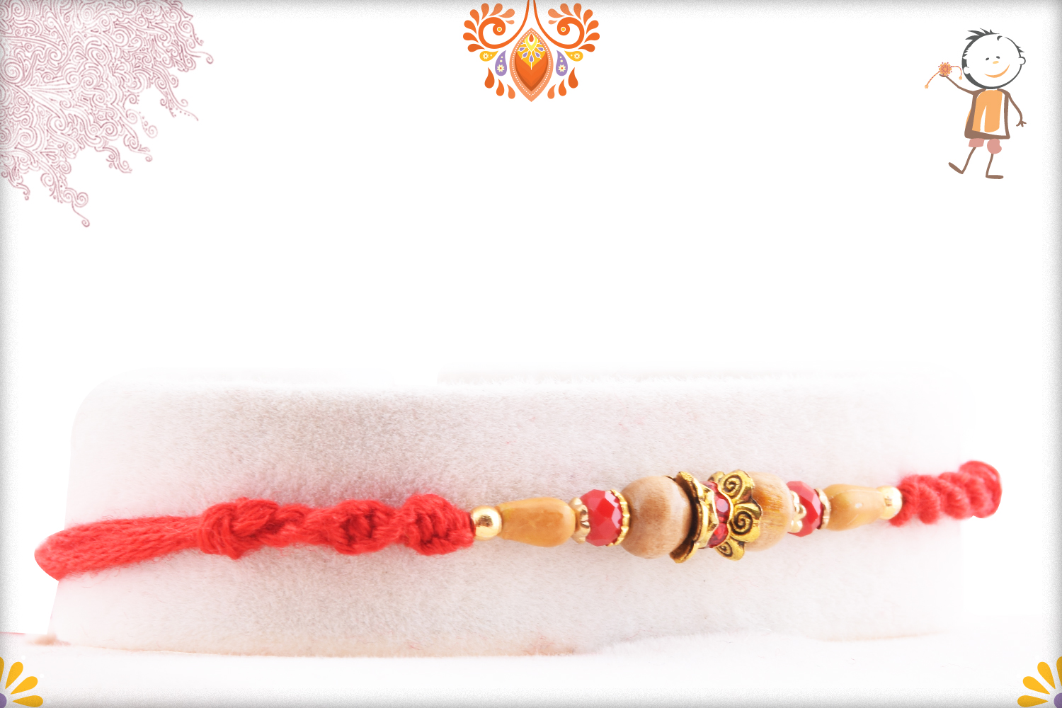Simple Yet Alluring Rakhi With Red Thread 1