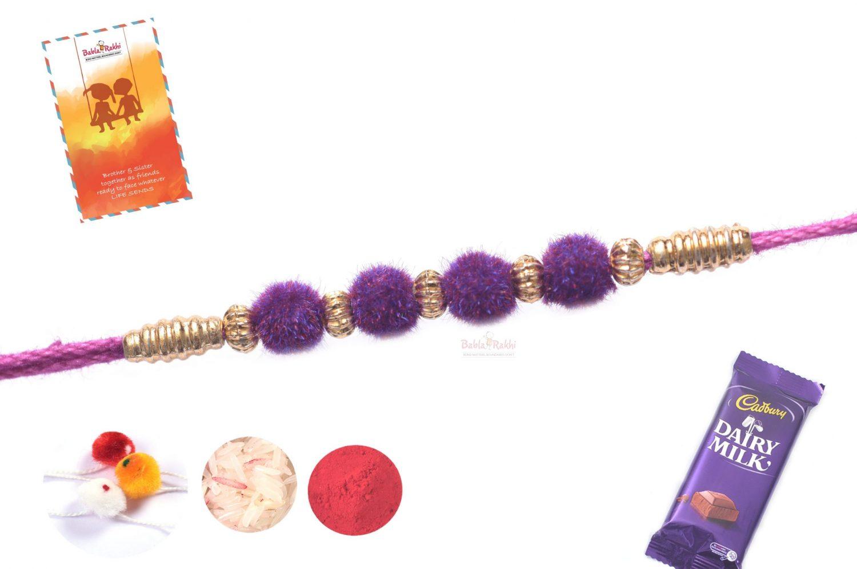 Violet Velvet Rakhi 1