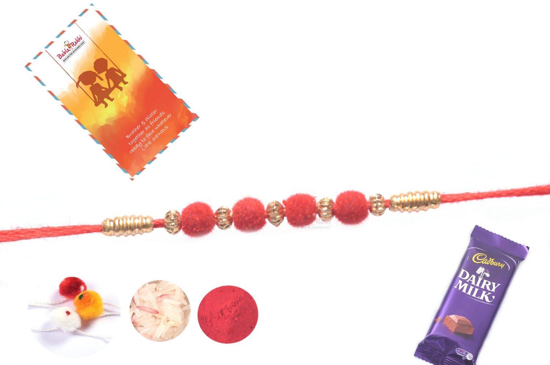 Delicate Red Velvet Rakhi 1