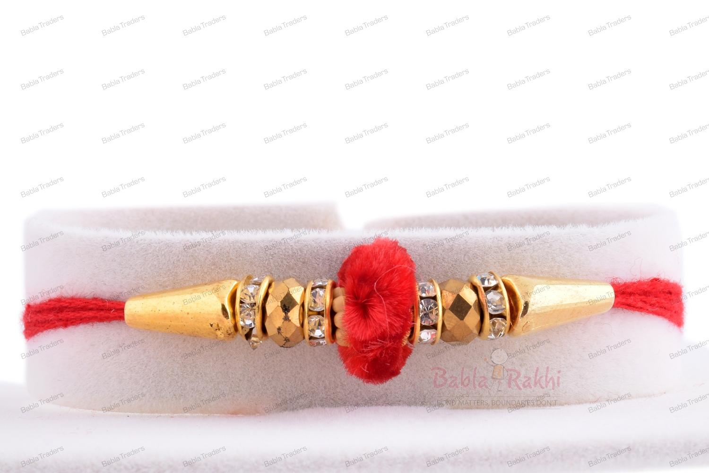 Simply Elegant Velvet Bead Rakhi 1