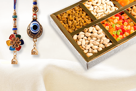 Rakhi With Dry Fruits