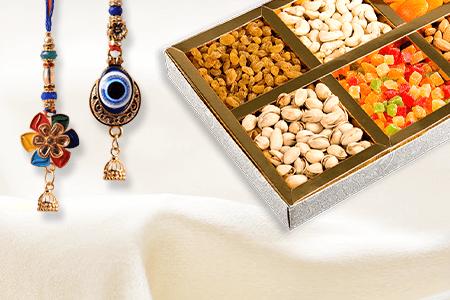 Rakhi With Dry Fruits