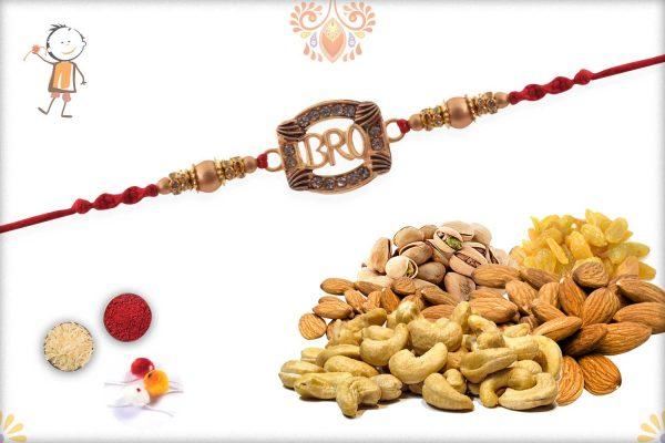 Rakhi With Badam-Kaju-Pista-Kismis - Babla Rakhi