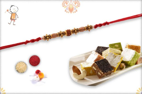 Rakhi with MIX Dryfruit Bites - Babla Rakhi