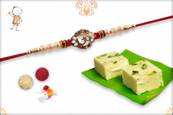 OM Rakhi with Sonpapdi - Babla Rakhi