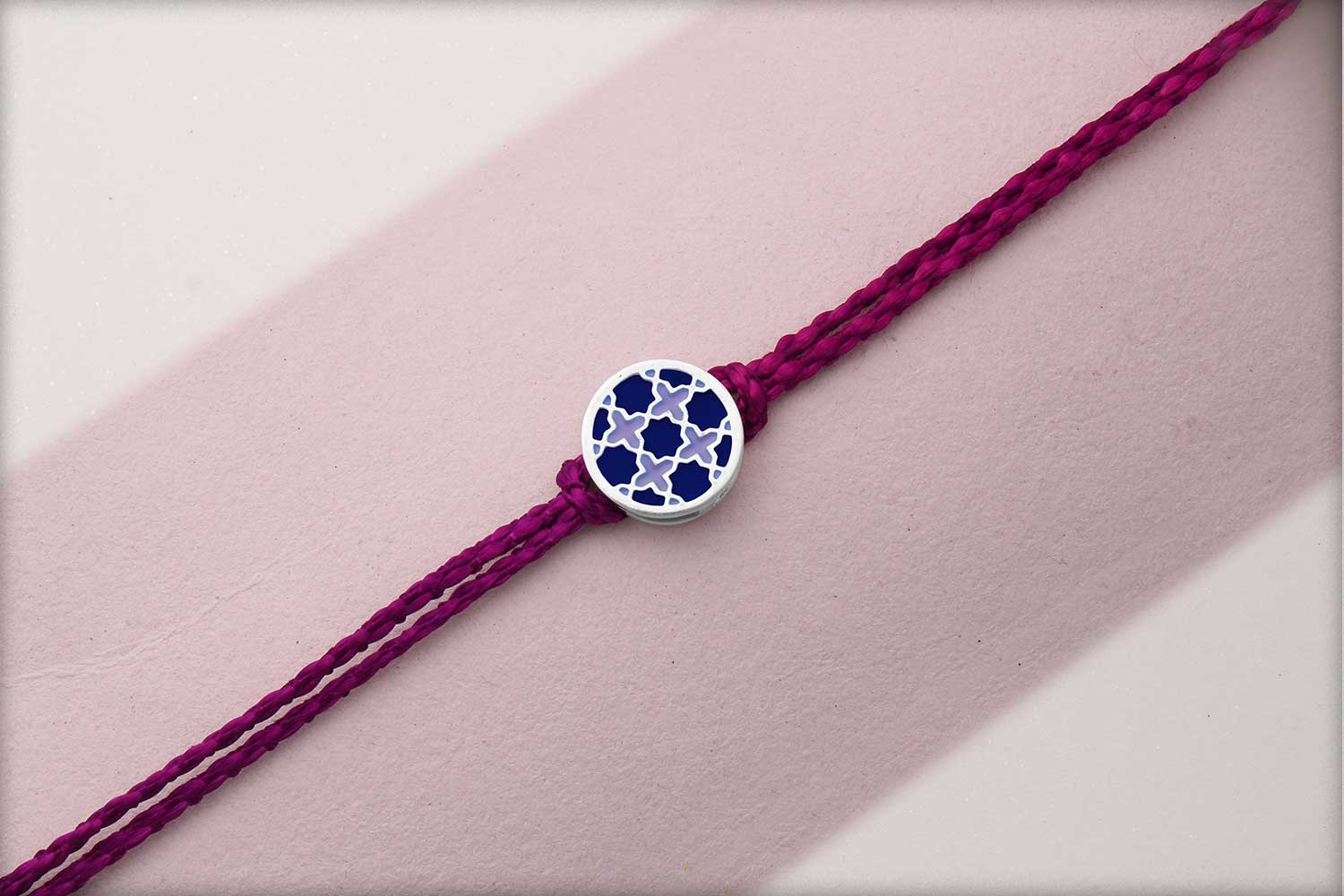 Miraas Round Multiwear Sterling Silver Rakhi - Blue and Lilac
