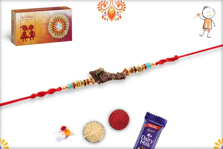 Beautiful OMG Rakhi with Designer Beads | Send Rakhi Gifts Online 3