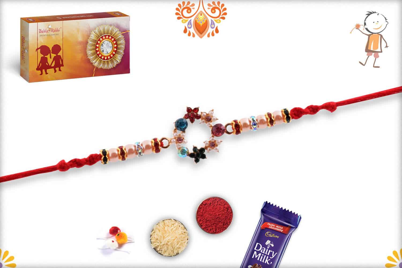 Unique Pearl Rakhi with Diamonds 2