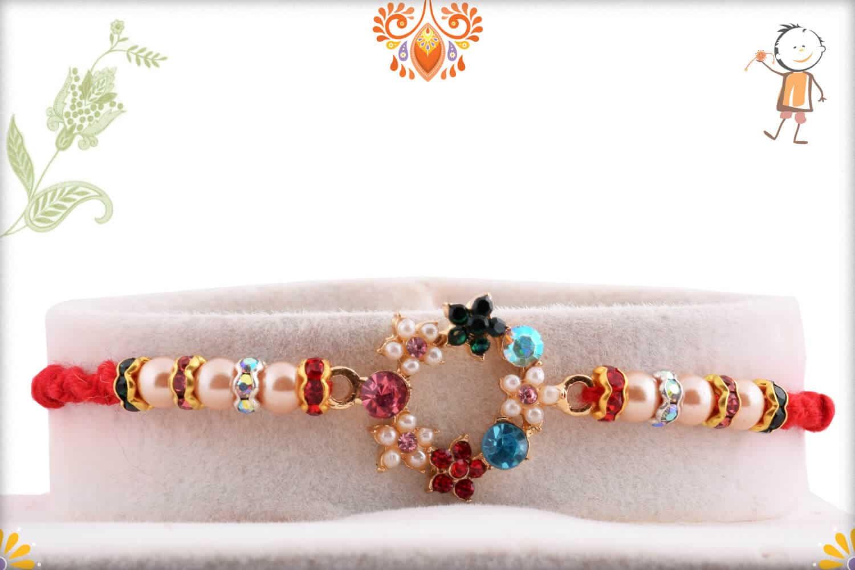 Unique Pearl Rakhi with Diamonds 1