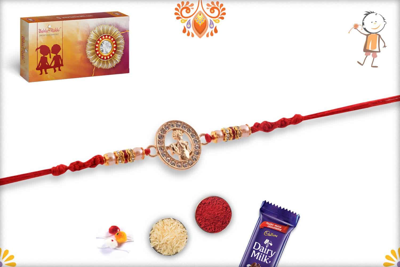 Beautiful Lord Krishna Diamond Rakhi Pearls | Send Rakhi Gifts Online 3