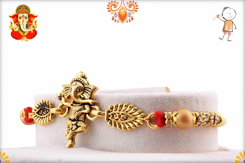 Dancing Ganeshji Rakhi | Send Rakhi Gifts Online 2