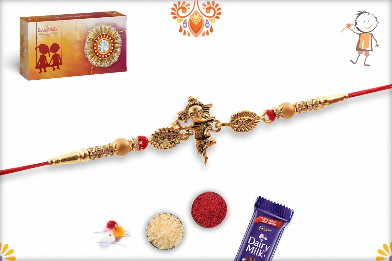 Dancing Ganeshji Rakhi | Send Rakhi Gifts Online 3