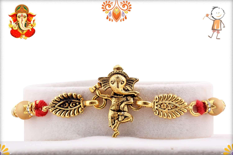 Dancing Ganeshji Rakhi | Send Rakhi Gifts Online 1