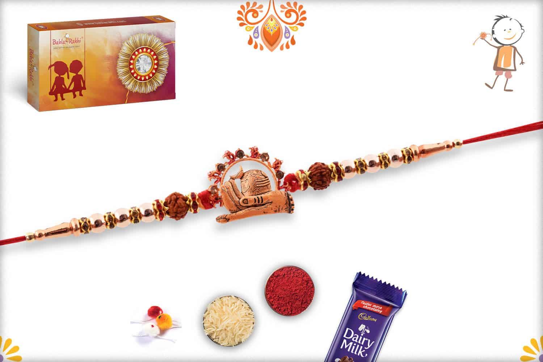 Beautiful Shivling Rakhi with Rudraksh | Send Rakhi Gifts Online 3