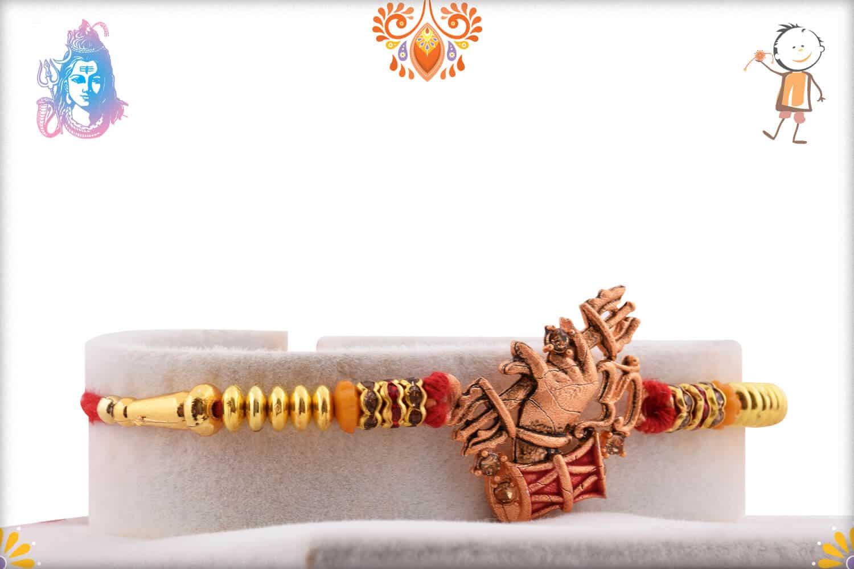 Unique OM with Dumroo Rakhi | Send Rakhi Gifts Online 2