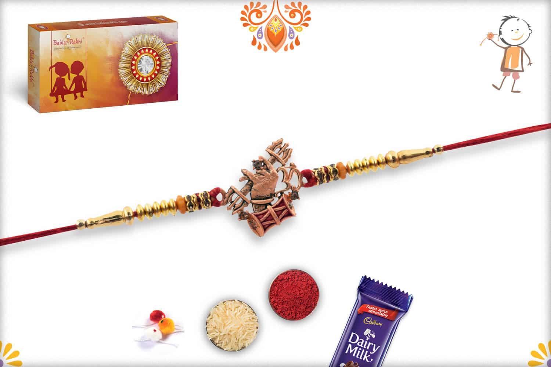 Unique OM with Dumroo Rakhi | Send Rakhi Gifts Online 3