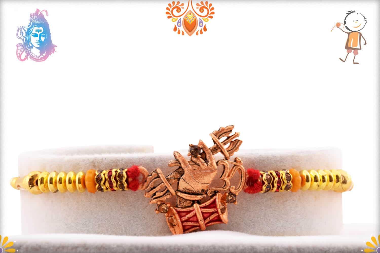Unique OM with Dumroo Rakhi | Send Rakhi Gifts Online 1
