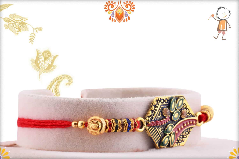 Exclusive Rakhi with Desinger Beads and Diamonds   Send Rakhi Gifts Online 2