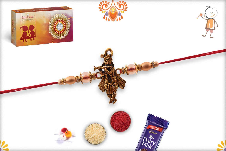 Beautiful Murlimanohar Rakhi   Send Rakhi Gifts Online 3