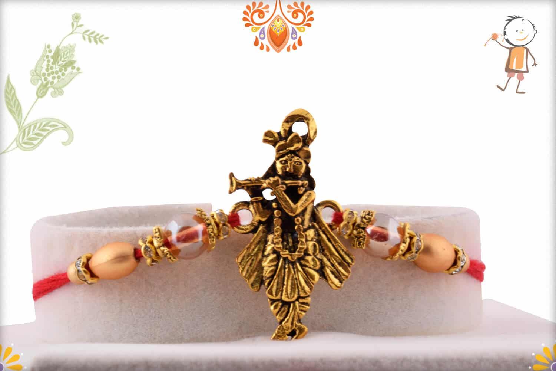 Beautiful Murlimanohar Rakhi   Send Rakhi Gifts Online 1