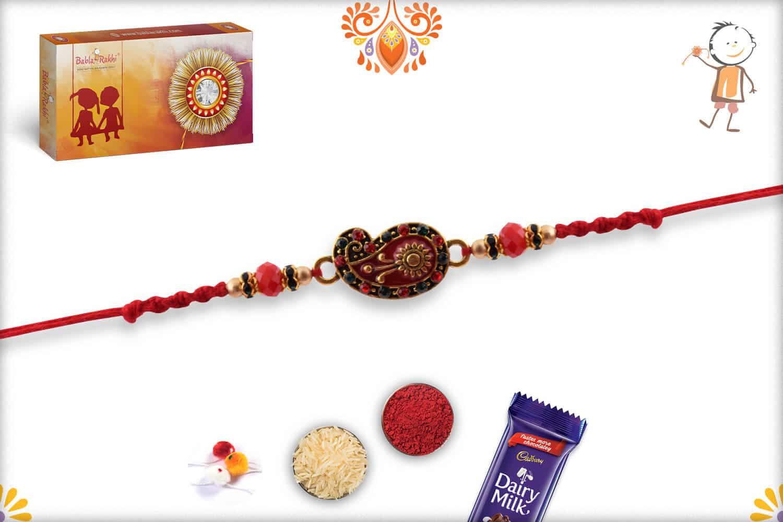 Beautiful Paisley Design Rakhi | Send Rakhi Gifts Online 2